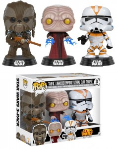 Figurki Star Wars POP! 3-pack Tarfful Emperor Clone Trooper Exclusive
