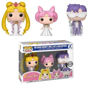 Figurka Sailor Moon POP! 3-pack Neo Queen, Small Lady, & Endymion Exclusive