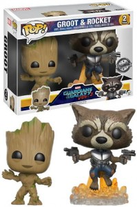 Figurka Guardians Of The Galaxy 2 POP! 2-pack Groot & Rocket Exclusive