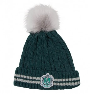 Czapka Harry Potter Slytherin z pomponem