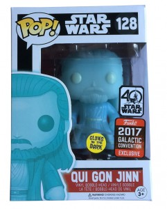 Figurka Star Wars POP! Holographic Qui-Gon Jinn GITD Exclusive
