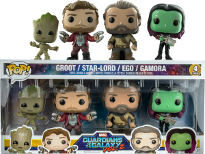 Figurka Guardians Of The Galaxy 2 POP! 4-pack Groot Star-Lord Ego Gamora