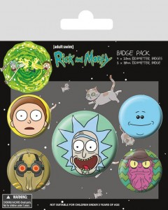 Przypinki Rick and Morty Heads